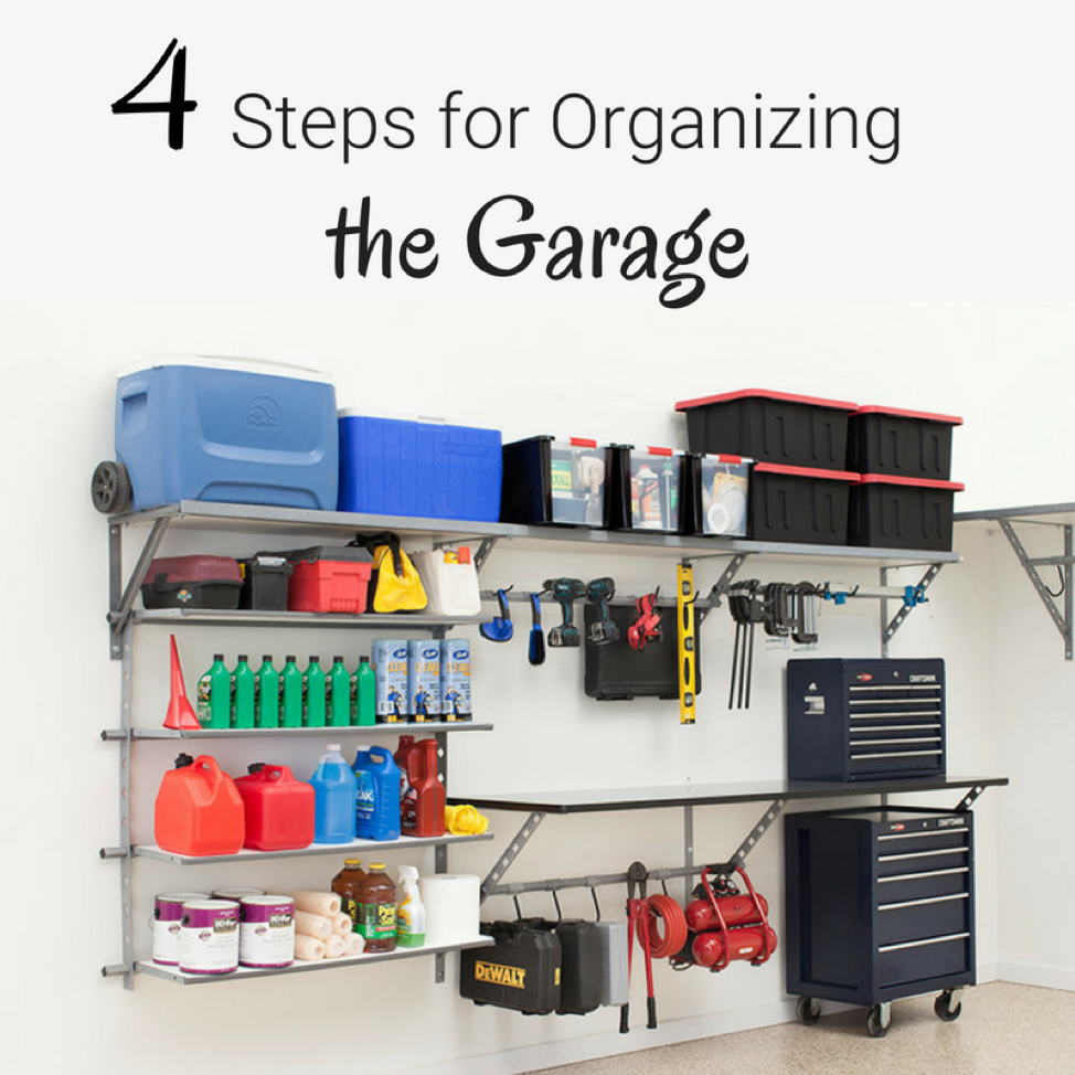 4 steps for organizing the garage